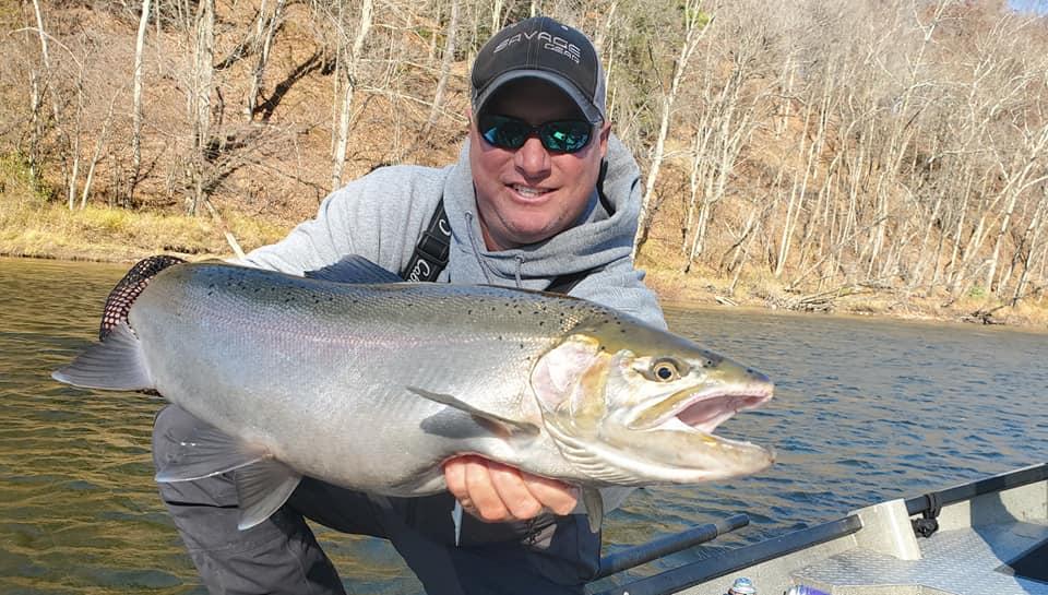 Michigan Fall Steelhead Float Fishing _ Muskegon River Steelhead